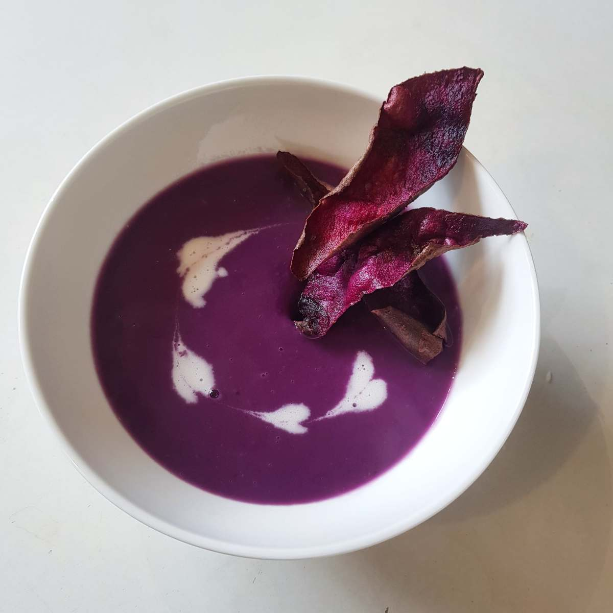 Coconut and Purple Sweet Potato Soup