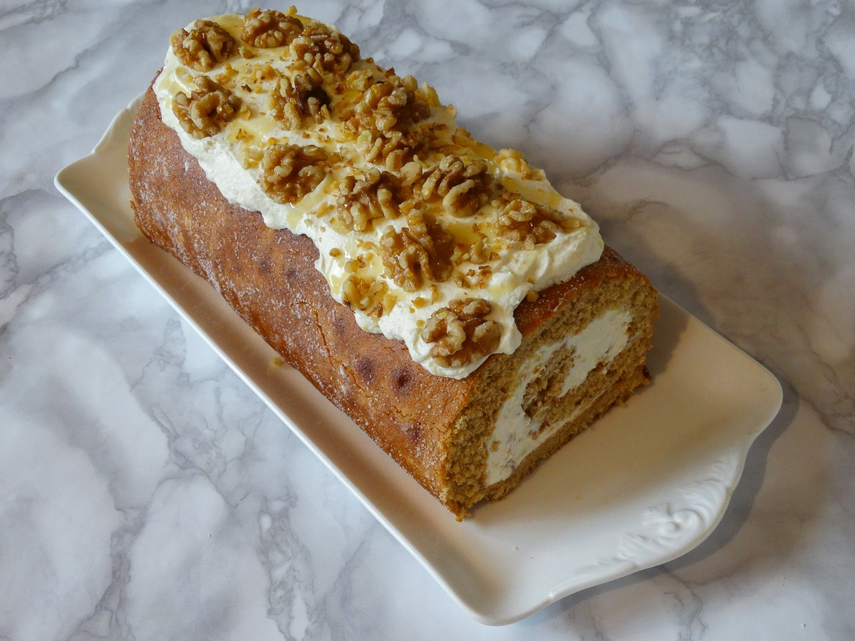 Honey Cake Swiss Roll